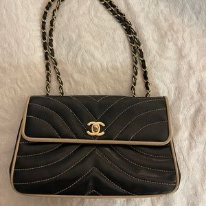 Chanel Chevron Quilted Lambskin Bag VINTAGE